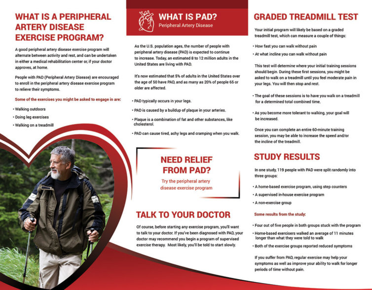 Peripheral Artery Disease Exercise Program Brochure