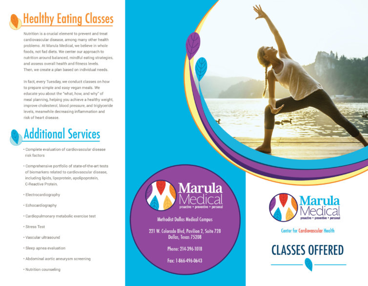 Marula Medical Tri-Fold Brochure