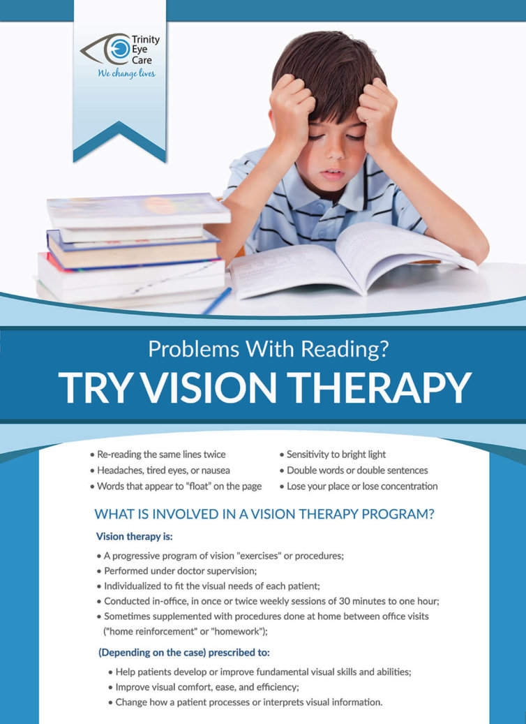 Trinity Eye Care Vision Therapy Poster
