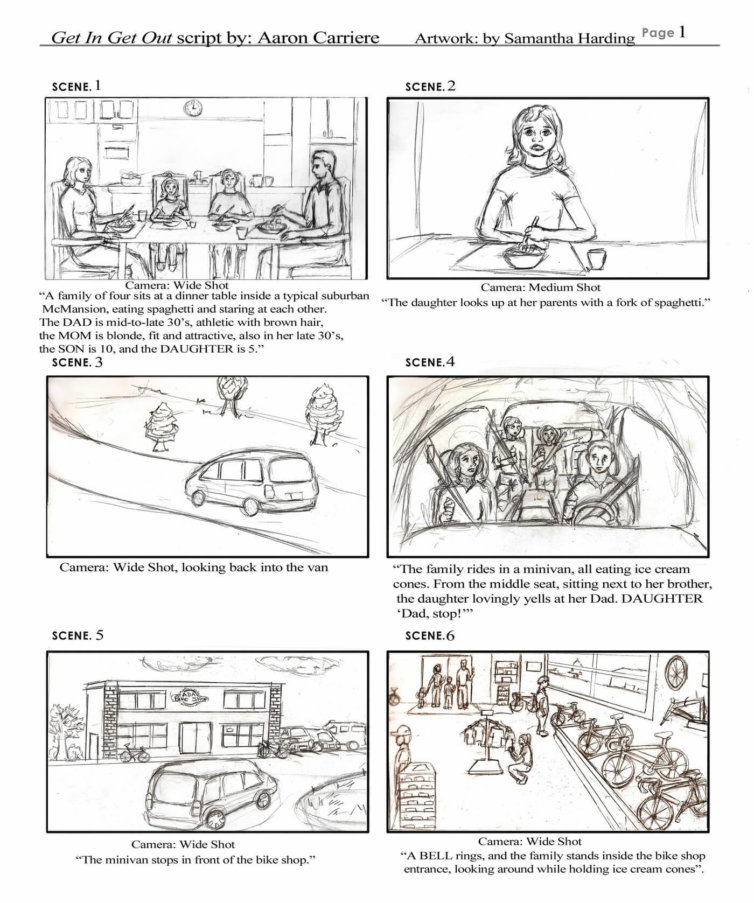 Commercial Storyboard Art